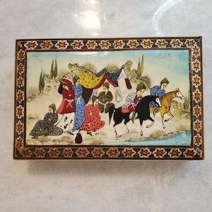 "4 × 7 "" Wooden Mosaic Painted Box"